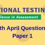 JEE Main 9th April Question Paper 2019