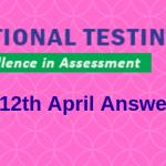 JEE Main 12th April Answer Key 2019