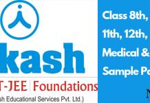 Aakash ACST Sample Paper PDF