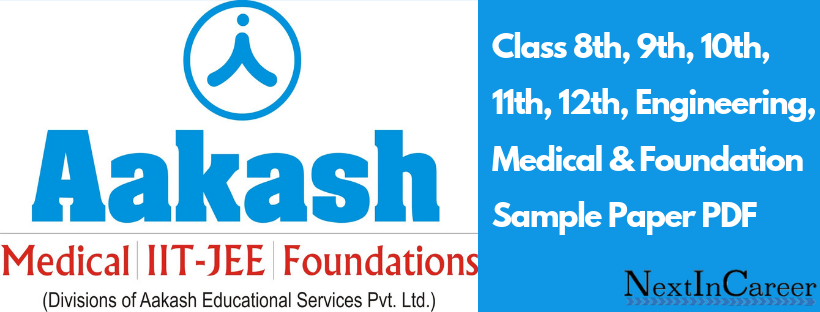 ACST Aakash Sample Paper- Class 8th, 9th, 10th, 11, 12th PDF Download