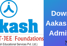 Aakash ACST Admit Card