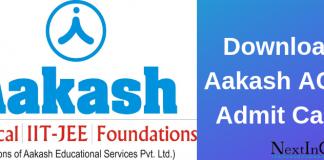 Aakash ACST Admit Card
