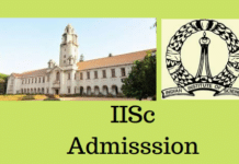 IISc Admission