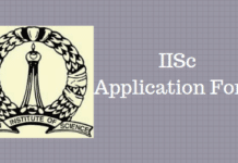 IISc Application Form