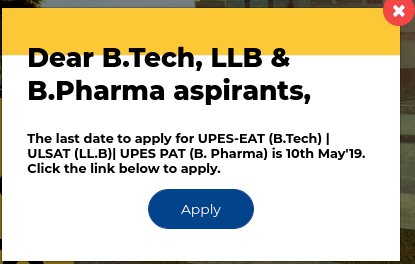 UPESEAT 2019 Application Last Date Extended