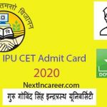 IPU CET Admit Card 2020
