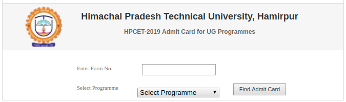 HPCET Admit Card 2019