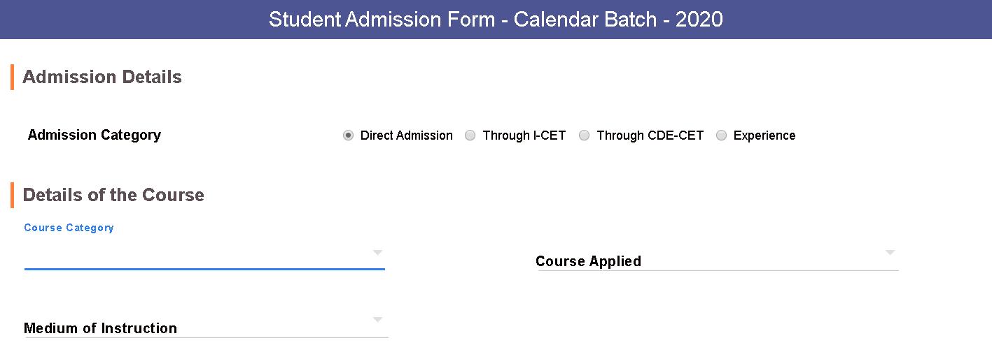 ANUCDE Admission Form 1