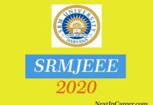 SRMJEEE 2020