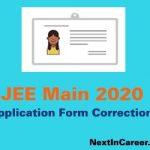 JEE Main Application Form Correction 2020