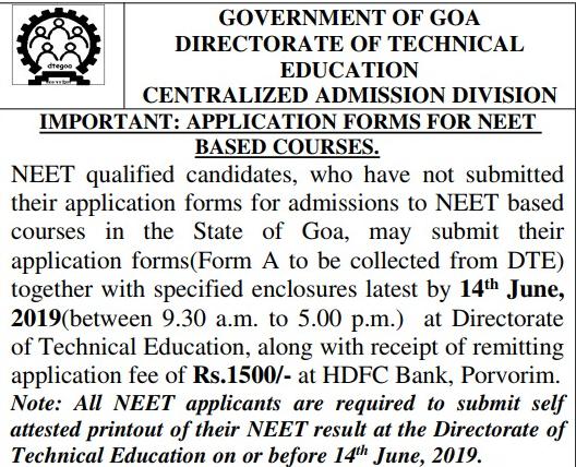 Goa MBBS Admission 2019