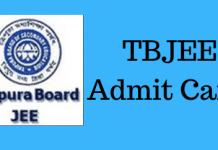 TBJEE Admit Card