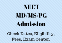 NEET PG Admission