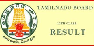 tamilnadu TN HSE 12th Board Result 2019