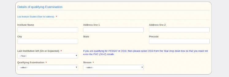 PESSAT Qualifying Details