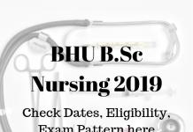 BHU B.Sc Nursing 2019