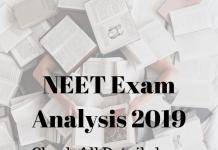 NEET Exam Analysis 2019