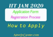 IIT JAM Application Form 2020