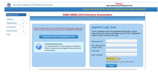 AIIMS Final Registration 2019