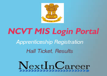NCVT MIS Result Login Portal Apprenticeship, Hall Ticket, Registration