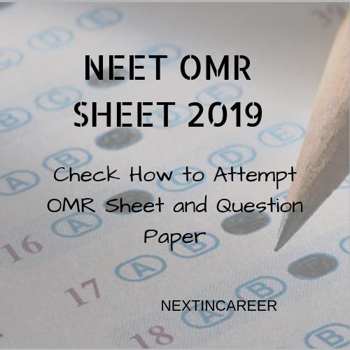 NEET OMR Sheet 2019, Response Sheet Available: Download till