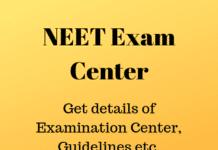 NEET Exam Center