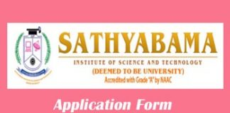 Sathyabama University Application Form