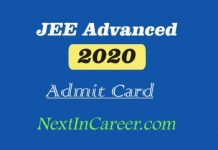 JEE Advanced Admit card 2020