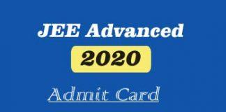 JEE Advanced Admit card 2020