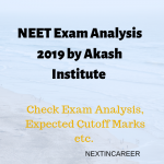 neet exam analysis by aakash institute