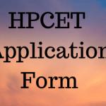HPCET Application Form