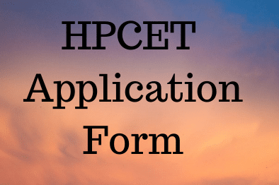 HPCET 2020 Application form