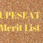 UPESEAT Merit List
