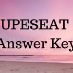 UPESEAT Answer Key