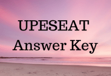 UPESEAT Answer Key