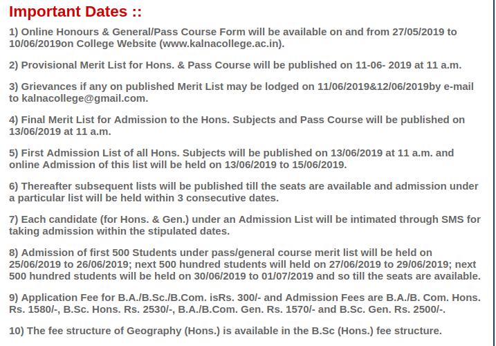Revised UG Schedule 2019