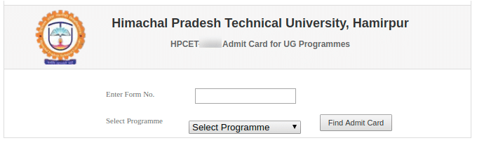 HPCET Admit Card Process