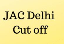 JAC Delhi Cut off
