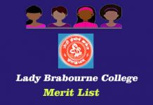 Lady Brabourne College Merit List