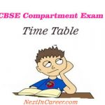 CBSE Compartment Exam Time Table