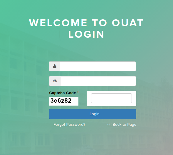 OUAT Admit Card Login