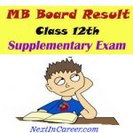 MP Board Class 12th Supplementary Result