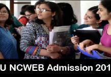 DU NCWEB Admission