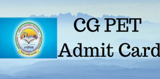 CG PET Admit Card