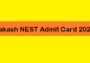 Aakash NEST Admit Card 2020