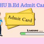 BHU B.Ed Admit Card