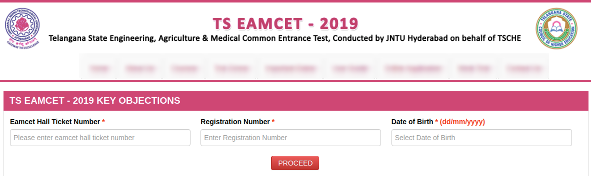 TS EAMCET 2019 Objection