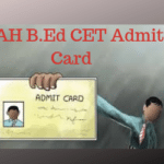 MAH B.Ed CET Admit Card
