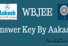 WBJEE Answer Key By Aakash