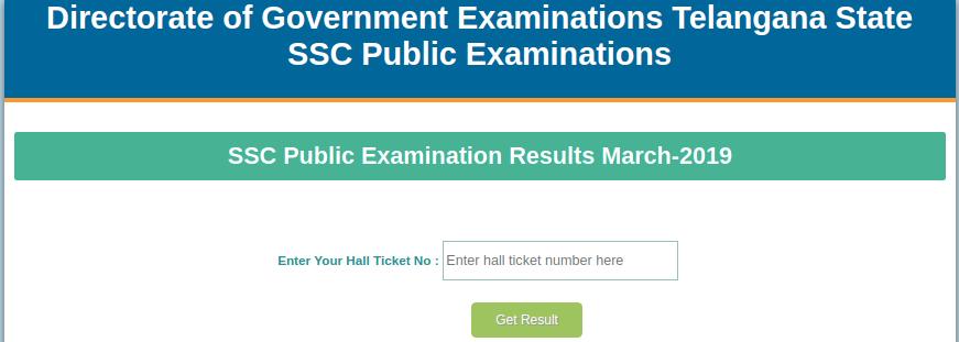 Telangana SSC Result 2019
